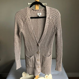 AEO chunky knit button up cardigan size small